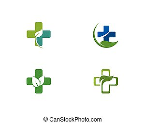 Herbal medicine logo concept illustration