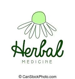 Herbal medicine logo symbol vector Illustration