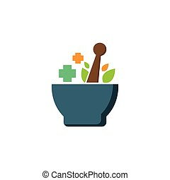 Herbal medicine logo template vector icon design