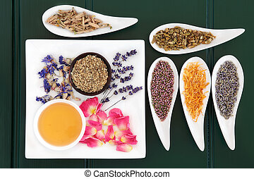 Herbal Medicine - Medicinal herb selection also used in...