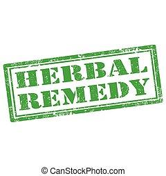 herbal, remedy-stamp