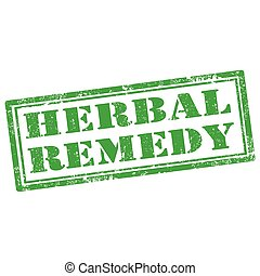Herbal Remedy-stamp - Grunge rubber stamp with text Herbal...