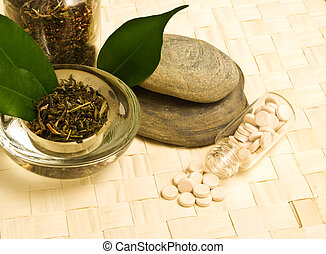 Herbal tea and tablets of the bark.