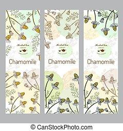 Herbal tea collection. Chamomile