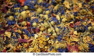 Herbal tea dried blend mixture of rose, cornflower, hibiscus...