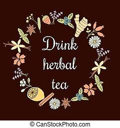 herbal tea frame