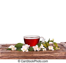 Herbal tea isolated on white background
