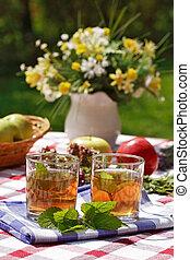 Herbal tea- outdoor dining