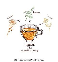 Herbal Tea Recipe Concept