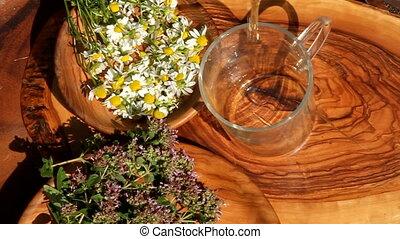 herbal tea - making herbal tea