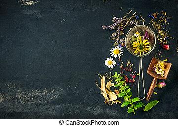 Herbal tea - Wildflowers and various herbs for herbal tea