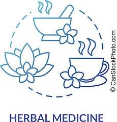 herbalism, naturopathy., 伝統的である, icon., 植物, rgb, 草, ベクトル, 線,...
