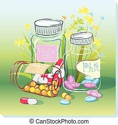herbario, phytopreparations, medicina