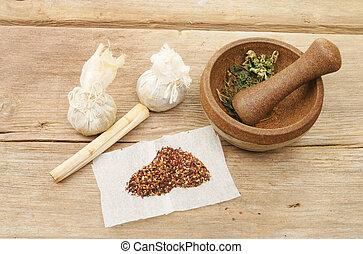 herbario, preparación