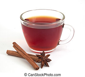 herbata, anyż, gwiazda, cynamon, filiżanka
