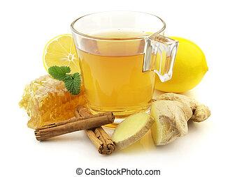 herbata, imbir