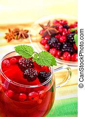 herbata, owoc