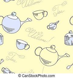 herbata, próbka, seamless