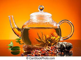 herbata, rozkwiecony