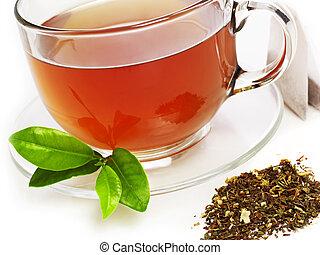 herbata, szczelnie-do góry, filiżanka