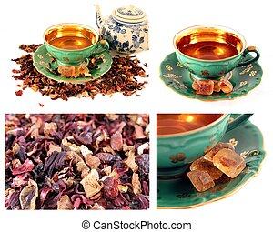 herbata, zmieszać