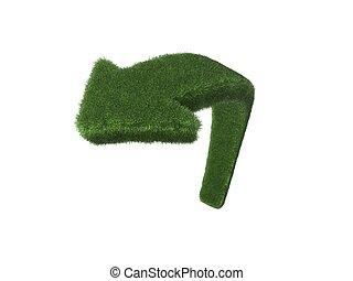 herbe, flèche