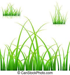 herbe, lames