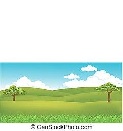 herbe, paysage