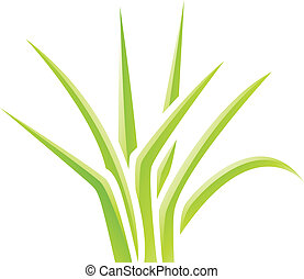 herbe, vert, lustré, icône