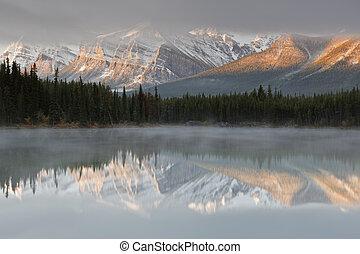 Herbert Lake, Canada - Herbert Lake, Icefields Parkway,...
