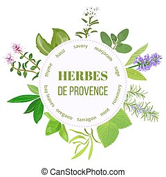herbes de provence round emblem