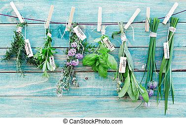 herbes, pendre