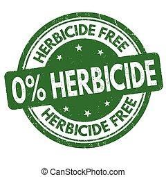 Herbicide free sign or stamp on white background, vector illustration