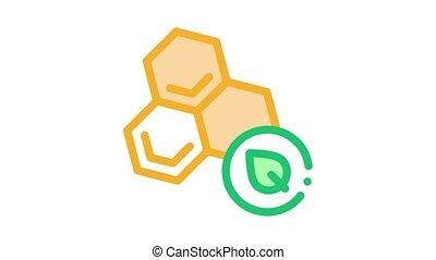 herbier, icône, animation, miel