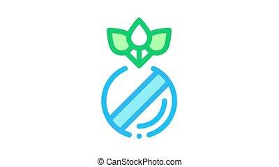 herbier, organique, animation, pilules, icône
