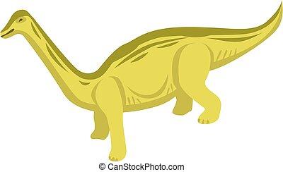 Herbivorous dino icon, isometric style