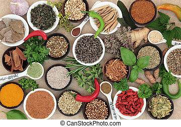 Herbs and Spices - Herb and spice selection used in cooking...