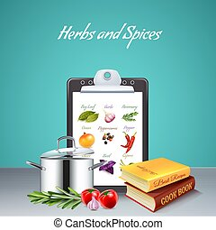 Herbs And Spices Realistic Background