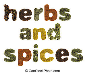 Herbs and spices words