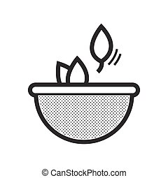 Herbs in bowls icon