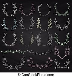 Herbs, Plants and Flowers. Branches, Laurels, Brackets
