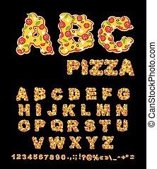 herbs., tradizionale, abc, lettere, commestibile, pizza.,...