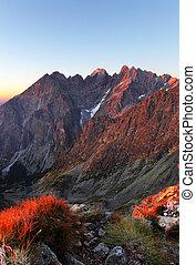 herbst, berg, slowakei, landschaftsbild