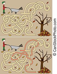 herbst, labyrinth