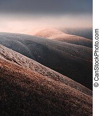 herbst, phantastisch, frost, landschaftsbild