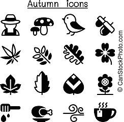 herbst, satz, ikone