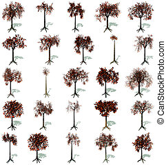 herbstbäume, satz