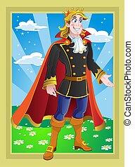 herceg, képben látható, a, fairytale, táj