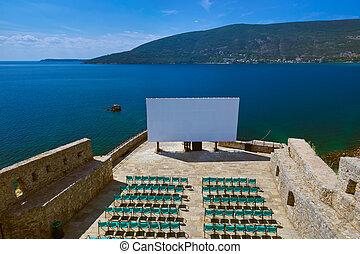 herceg, novi, bioscoop, montenegro, -, zaal, citadel