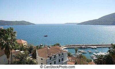 Herceg Novi boat dock, Old Town, Montenegro, Adriatic sea